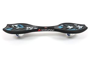 Waveboard Maxboard Black Hibiscus Seitenansicht