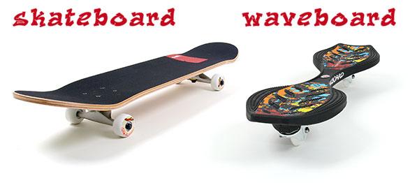 Waveboard und Skateboard Unterschied